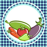 Vegetable dishes. Preparation of vegetable dishes in the vector Stock Photos
