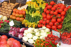 Vegetable display Stock Photography