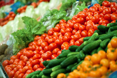 Vegetable Display Royalty Free Stock Photography
