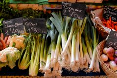 Vegetable display Royalty Free Stock Photos