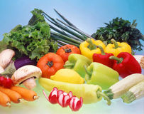 Vegetable display. Stock Photo