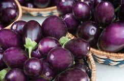 Vegetable Display - Eggplants Royalty Free Stock Image
