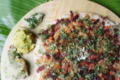 Vegetable Dosa - a pancake from South India Stock Image