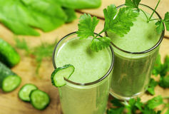 Vegetable drink. Healthy drink, vegetable juice, studio shot Stock Photos