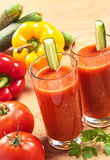 Vegetable drink. Healthy tomato drink, vegetable juice, studio shot Royalty Free Stock Photography