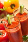 Vegetable drink. Healthy tomato drink, vegetable juice, studio shot Stock Image