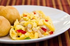 Vegetable Dumpling & Saltfish Royalty Free Stock Image