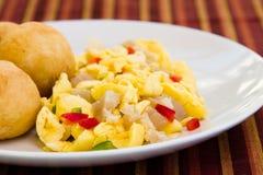 Vegetable Dumpling & Saltfish Royalty Free Stock Image