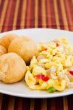 Vegetable Dumpling with Saltfish Royalty Free Stock Image