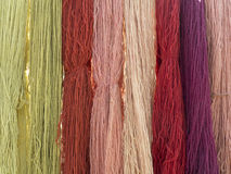 Vegetable dyed wool Stock Photos