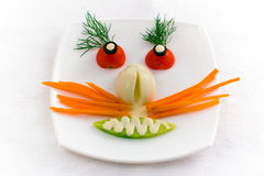 Vegetable face Royalty Free Stock Image