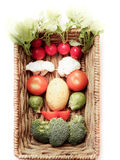Vegetable Face. In a basket stock photo