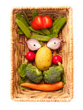Vegetable Face. In a Basket stock images