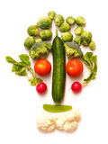 Vegetable Face. Funny Vegetable Face with different vegetables royalty free stock photo