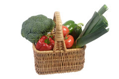 Vegetable filled basket Royalty Free Stock Photo