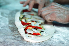 Vegetable Flat Bread Royalty Free Stock Image