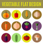 Vegetable flat design Royalty Free Stock Photography