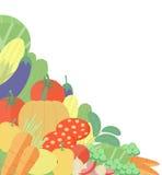 Vegetable flat illustration background Royalty Free Stock Images