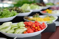 Vegetable food buffet catering in restaurant hotel. eating dining in banquet royalty free stock photography