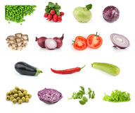 Vegetable food collection Royalty Free Stock Images