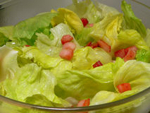 Vegetable food - fresh salad Stock Photos