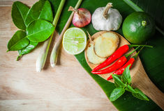 Vegetable of food for tom yum Royalty Free Stock Photo