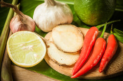 Vegetable of food for tom yum Stock Images