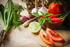 Vegetable of food for tom yum Royalty Free Stock Images