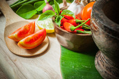 Vegetable of food for tom yum Royalty Free Stock Photos