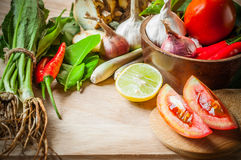 Vegetable of food for tom yum Stock Photo