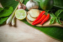 Vegetable of food for tom yum Royalty Free Stock Photography