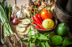 Vegetable of food for tom yum Royalty Free Stock Image