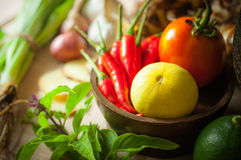 Vegetable of food for tom yum Stock Photography