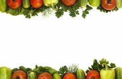 Vegetable frame Stock Images