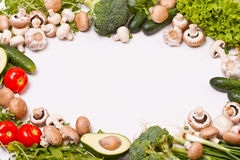 Vegetable frame Royalty Free Stock Images