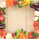 Vegetable Frame Background Stock Photos