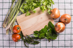 Vegetable frame Stock Photo