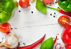 Vegetable frame Stock Photography