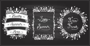 Free Vegetable Frames Set On A Chalkboard, Veggie Elements, Vintage Style Royalty Free Stock Image - 150734926