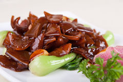 Vegetable fried pig stomach Stock Image
