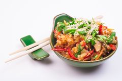 Vegetable fried rice Stock Photos