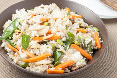 Vegetable fried rice Royalty Free Stock Images