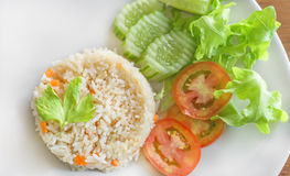 Vegetable fried rice Stock Image