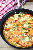 Vegetable Frittata Stock Images