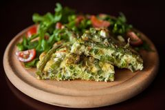 Vegetable frittata Royalty Free Stock Photography
