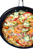 Vegetable Frittata in Frying Pan Royalty Free Stock Photography