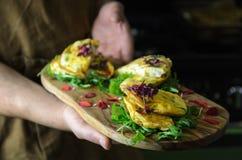 Vegetable frittatas на борту Стоковые Изображения RF