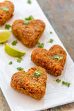 Vegetable Fritters. / cutlets vertical image royalty free stock photos