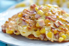 Vegetable Fritters with Ham Stock Photos