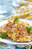 Vegetable Fritters with Ham Royalty Free Stock Images